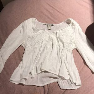 White Lacey Blouse